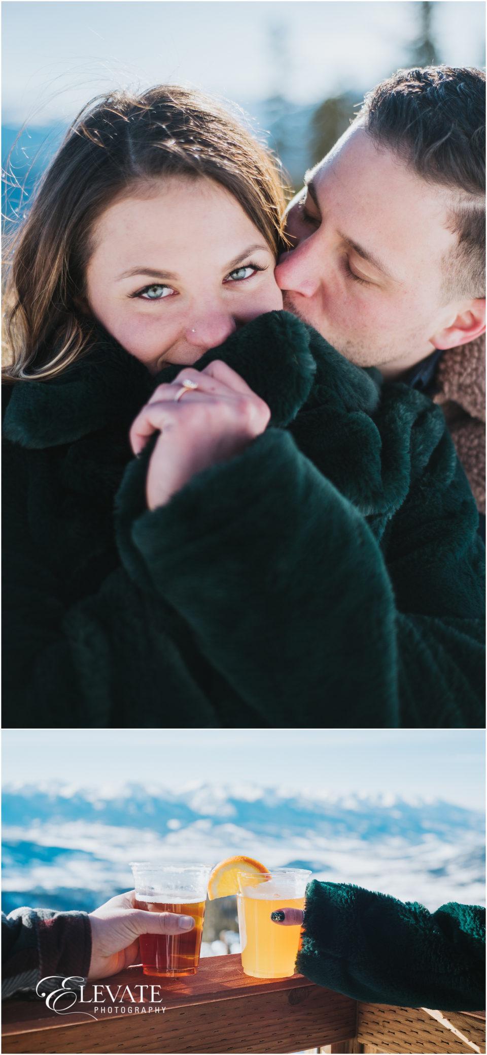 Keystone Winter Engagement Photos