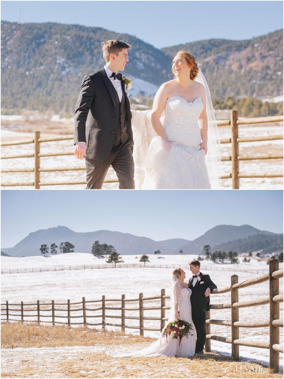 spruce mountain ranch winter wedding
