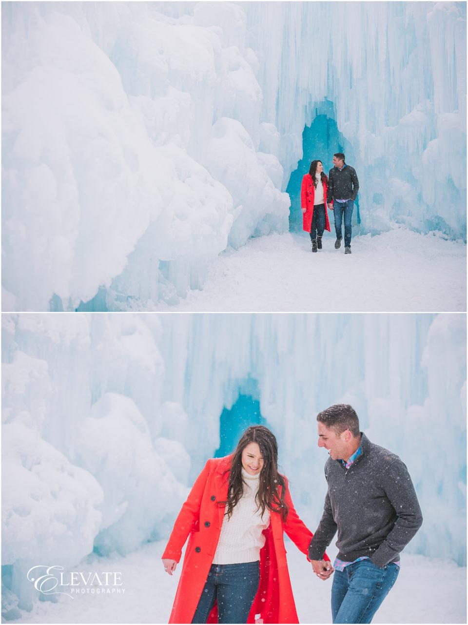 Ice Castles Engagement photos