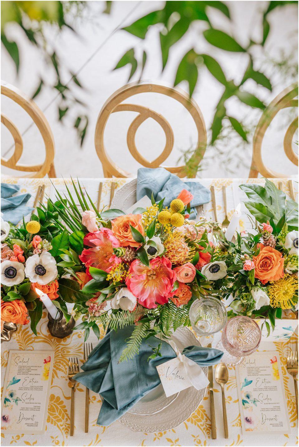 colorful vibrant centerpieces