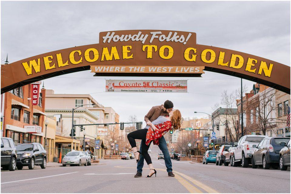 golden engagement photos